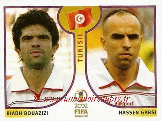2002 - Panini FIFA World Cup Stickers - N° 573 - Riadh BOUAZIZI +Hassen GABSI (Tunisie)