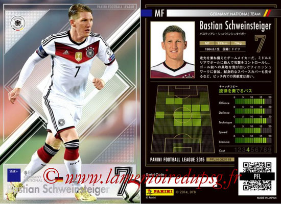 Panini Football League 2015 - PFL14 - N° 082 - Bastian SCHWEINSTEIGER (Allemagne) (Star +)