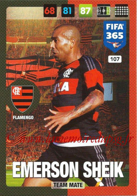 2016-17 - Panini Adrenalyn XL FIFA 365 - N° 107 - Emerson SHEIK (Flamengo)