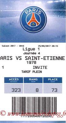 Tickets  PSG-Saint Etienne   2017-18