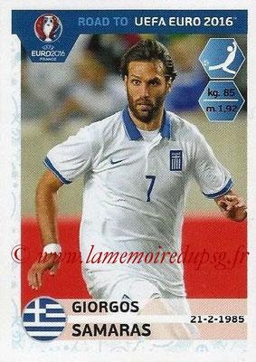 Panini Road to Euro 2016 Stickers - N° 126 - Giorgos SAMARAS (Grèce)