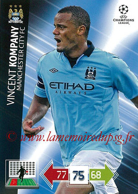 2012-13 - Adrenalyn XL champions League N° 124 - Vincent KOMPANY (Manchester City FC)