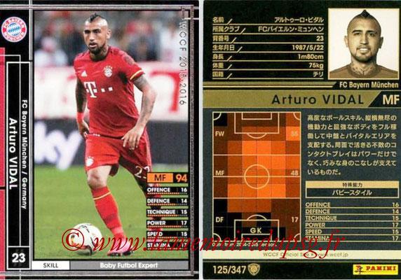 2015-16 - Panini WCCF - N° 125 - Arturo VIDAL (FC Bayern Munich)