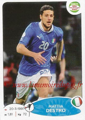 2014 - Panini Road to FIFA World Cup Brazil Stickers - N° 032 - Mattia DESTRO (Italie)