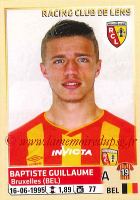 2014-15 - Panini Ligue 1 Stickers - N° 141 - Baptiste GUILLAUME (RC Lens)