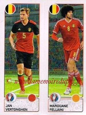 Panini Euro 2016 Stickers - N° 488 - Jan VERTONGHEN + Marouane FELLAINI (Belgique)