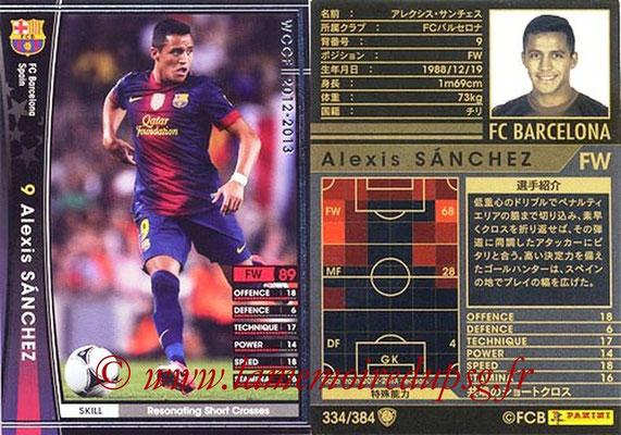 2012-13 - WCCF - N° 334 - Alexis SANCHEZ (FC Barcelone)