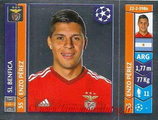 2014-15 - Panini Champions League N° 186 - Enzo PEREZ (SL Benfica)