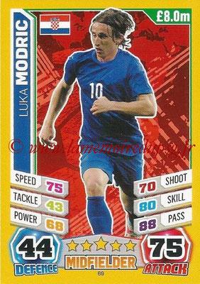 Topps Match Attax England 2014 - N° 069 - Luka MODRIC (Croatie)