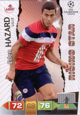 2011-12 - Panini Champions League Cards - N° 128 - Eden HAZARD (Lille) (Rising Star)