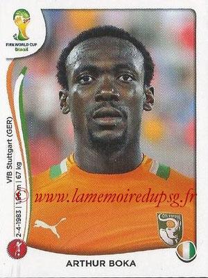 2014 - Panini FIFA World Cup Brazil Stickers - N° 228 - Arthur BOKA (Côte d'Ivoire)