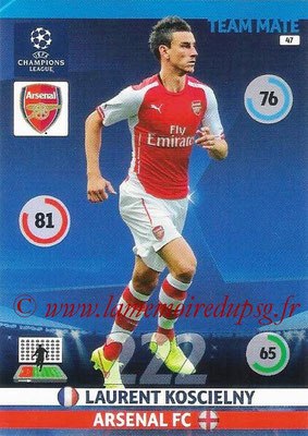 2014-15 - Adrenalyn XL champions League N° 047 - Laurent KOSCIELNY (Arsenal FC)