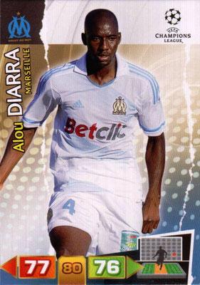 2011-12 - Panini Champions League Cards - N° 199 - Alou DIARA (Olympique de Marseille)