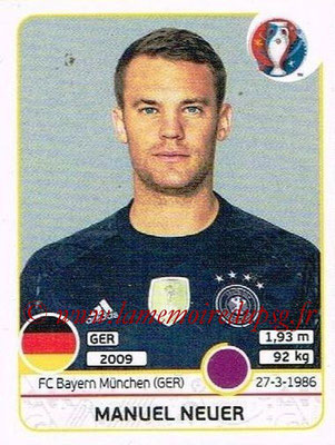 Panini Euro 2016 Stickers - N° 241 - Manuel NEUER (Allemagne)