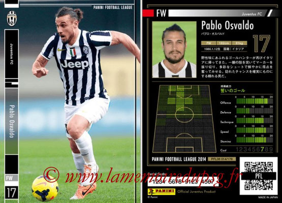 Panini Football League 2014 - PFL08 - N° 014 - Pablo OSVALDO (Juventus FC)