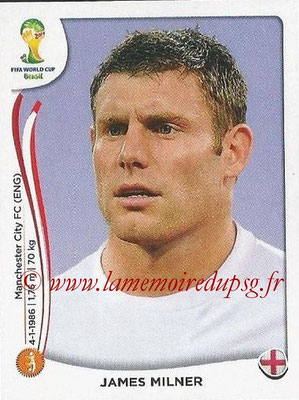2014 - Panini FIFA World Cup Brazil Stickers - N° 311 - James MILNER (Angleterre)