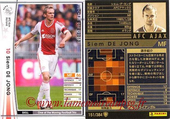 2012-13 - WCCF - N° 151 - Siem DE JONG (AFC Ajax)