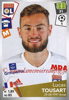2017-18 - Panini Ligue 1 Stickers - N° 196 - Lucas TOUSART (Lyon)
