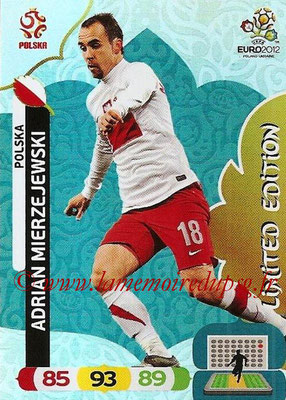 Panini Euro 2012 Cards Adrenalyn XL - N° LE36 - Adrian MIERZEJEWSKI (Pologne) (Limited Edition)