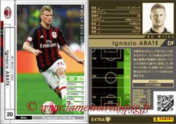 2015-16 - Panini WCCF - N° EXT07 - Ignazio ABATE (Milan AC) (Extra)