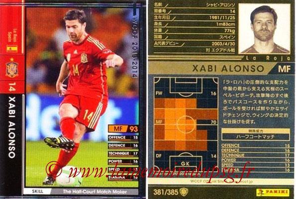 2013-14 - WCCF - N° 381 - Xabi ALONSO (Espagne)
