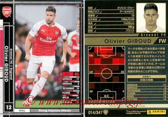 2015-16 - Panini WCCF - N° 014 - Olivier GIROUD (Arsenal FC)