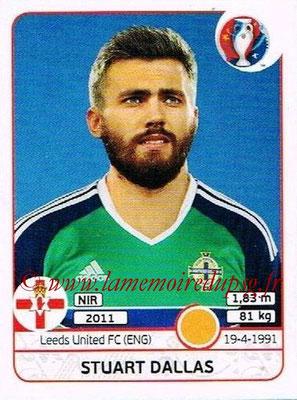 Panini Euro 2016 Stickers - N° 337 - Stuart DALLAS (Irlande du Nord)