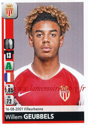 2018-19 - Panini Ligue 1 Stickers - N° 242 - Willem GEUBBELS (Monaco)