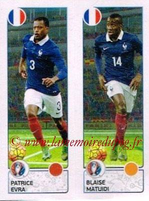 Panini Euro 2016 Stickers - N° 040 - Patrice EVRA + Blaise MATUIDI (France)