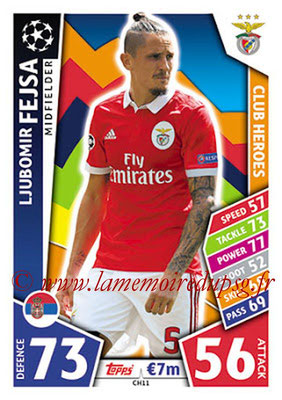 2017-18 - Topps UEFA Champions League Match Attax - N° CH11 - Ljubomir FEJSA (SL Benfica) (Club Heroes)