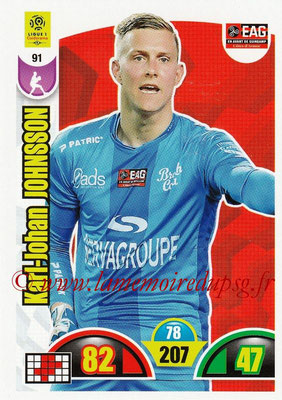 2018-19 - Panini Adrenalyn XL Ligue 1 - N° 091 - Karl-Johan JOHNSSON (Guingamp)