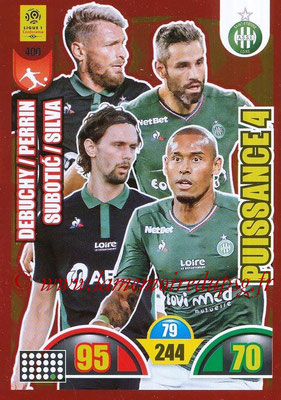 2018-19 - Panini Adrenalyn XL Ligue 1 - N° 400 - Mathieu DEBUCHY + Neven SUBOTIC + Loîc PERRIN + Gabriel SILVA (Saint-Etienne) (Puissance 4)