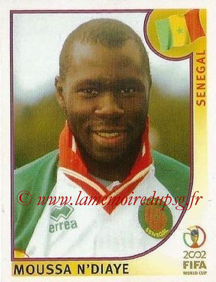 2002 - Panini FIFA World Cup Stickers - N° 052 - Moussa N'DIAYE (Sénégal)