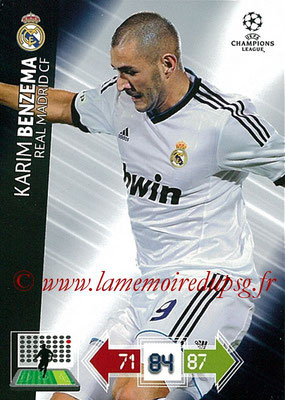2012-13 - Adrenalyn XL champions League N° 232 - Karim BENZEMA (Real Madrid CF)