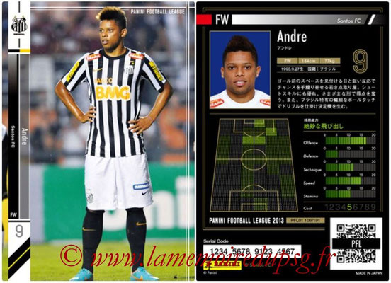 Panini Football League 2013 - PFL01 - N° 109 - Andre ( Santos FC )