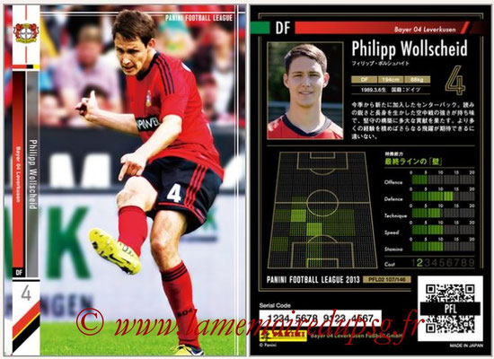Panini Football League 2013 - PFL02 - N° 107 - Philipp Wollscheid ( Bayer 04 Leverkusen )