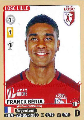 2015-16 - Panini Ligue 1 Stickers - N° 148 - Franck BERIA (Lille OSC)
