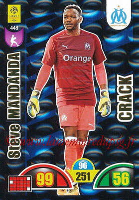 2018-19 - Panini Adrenalyn XL Ligue 1 - N° 448 - Steve MANDANDA (Marseille) (Crack)