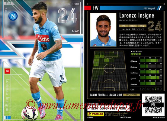 Panini Football League 2015 - PFL11P - N° 002 - Lorenzo INSIGNE (SSC Naples) (Star)
