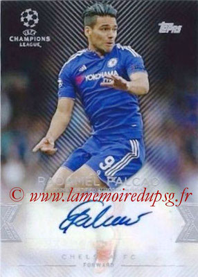 2015-16 - Topps UEFA Champions League Showcase Soccer - N° CLA-RF - Radamel FALCAO (Chelsea FC) (Base Autographs Cards)