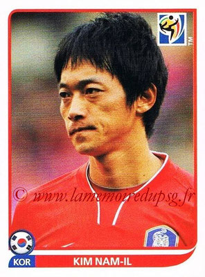 2010 - Panini FIFA World Cup South Africa Stickers - N° 158 - Kim NAM-IL (Corée du Sud)