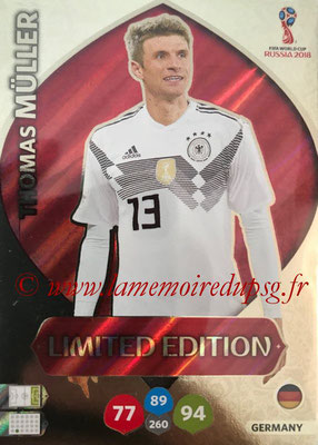 2018 - Panini FIFA World Cup Russia Adrenalyn XL - N° LE-TM - Thomas MÜLLER (Allemagne) (Limited Edition)