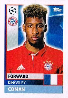 N° BMU 17 - Kingsley COMAN (2012-14, PSG > 2016-17, Bayern Munich, ALL)