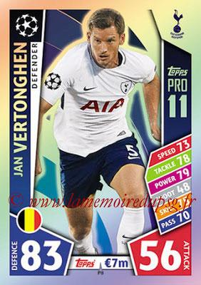 2017-18 - Topps UEFA Champions League Match Attax - N° P08 - Jan VERTONGHEN (Tottenham Hotspur) (Pro 11)