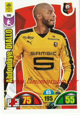 2018-19 - Panini Adrenalyn XL Ligue 1 - N° 300 - Abdoulaye DIALLO (Rennes)