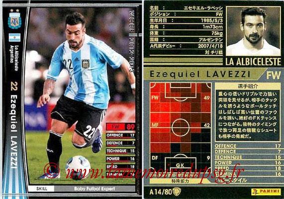 2012-13 - WCCF - N° A14 - Ezequiel LAVEZZI (Argentine)