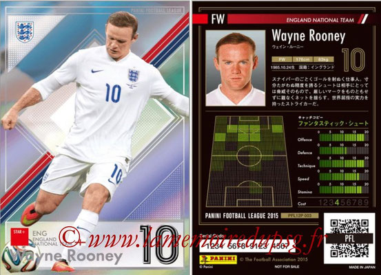 Panini Football League 2015 - PFL12P - N° 003 - Wayne ROONEY (Angleterre) (Star +)