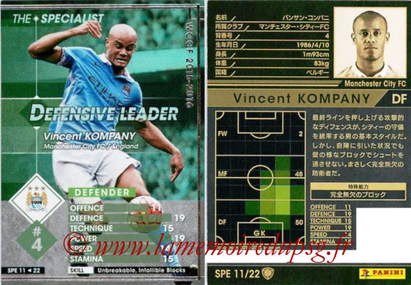 2015-16 - Panini WCCF - N° SPE11 - Vincent KOMPANY (Manchester City FC) (The Specialist)