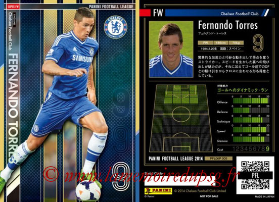 Panini Football League 2014 - PFL06P - N° 005 - Fernando TORRES (Chelsea FC) (Super FW)