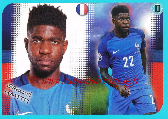 2016-17 - Panini Ligue 1 Stickers - N° P08 - Samuel UMTITI (Poster Equipe de France)